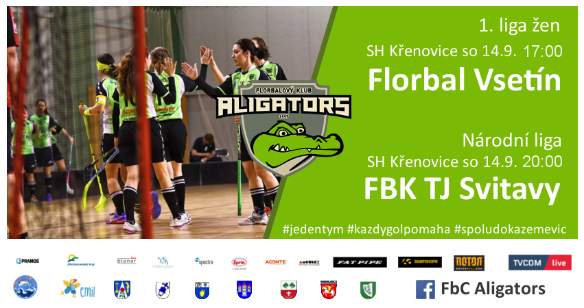 Program FbC Aligators na víkend 14. – 15. zaří 2019